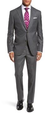 David Donahue Men's Ryan Classic Fit Check Wool Suit
