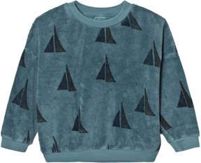 Bobo Choses Blue Sailing Print Alma Sweatshirt