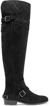 Belstaff Taylour Buckled Suede Over-The-Knee Boots