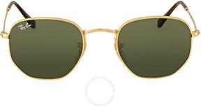 Ray-Ban Hexagonal Flat Green Classic G-15 Sunglasses