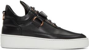 Filling Pieces Black Clasp Low Sneakers