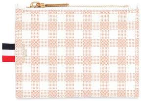 Thom Browne Small Gingham Printed Grained Coin Purse