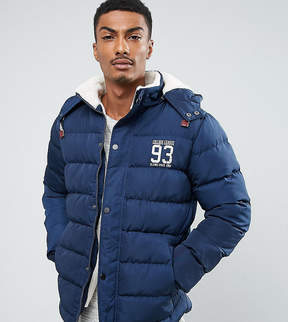 Blend of America Quilted Jacket Fleece Lining Hood