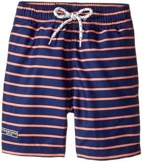 Toobydoo Orange & Navy Swimsuit - Short (Infant/Toddler/Little Kids/Big Kids)