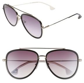 Alice + Olivia Women's Lincoln 58Mm Aviator Sunglasses - Black/ White