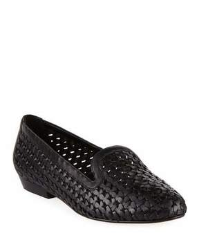 Sesto Meucci Neya Woven Leather Loafer, Black