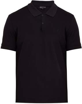 Lanvin Logo-embroidered cotton polo shirt