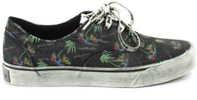 Palm Angels Sneaker In Cotone Con Motivo Islands.