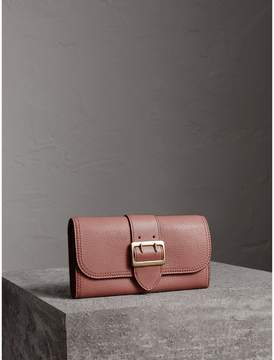 Burberry Textured Leather Continental Wallet