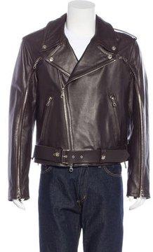 Gianfranco Ferre Leather Moto Jacket