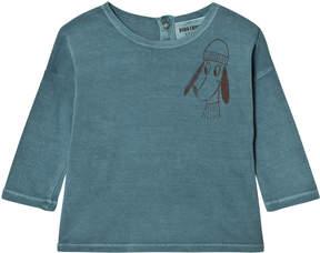Bobo Choses Blue Loup Long Sleeve T-Shirt