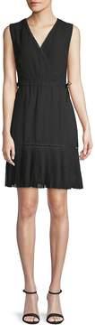 ABS by Allen Schwartz Women's Embroidered Faux Wrap A-Line Dress