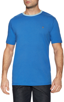 Farah Men's Milton Jacquard Neck Trim Tee