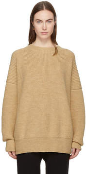 LAUREN MANOOGIAN SSENSE Exclusive Beige Fisherman Crewneck Sweater