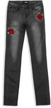 Hudson Little Girl's & Girl's Embroidered Storm Skinny Jeans