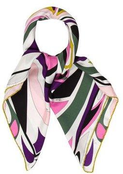 Emilio Pucci Printed Multicolor Scarf