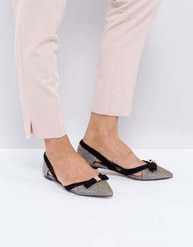 Miss KG Nica Cut Out Pointed Flat Shoes