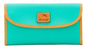 Dooney & Bourke Patterson Leather Continental Clutch Wallet - JADE - STYLE