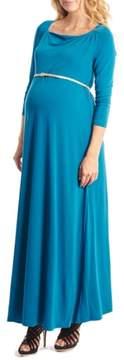 Everly Grey Women's Zelena Maternity Maxi Dress