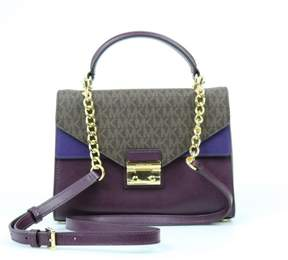 Michael Kors Sloan Medium Top-Handle Satchel - PURPLES - STYLE