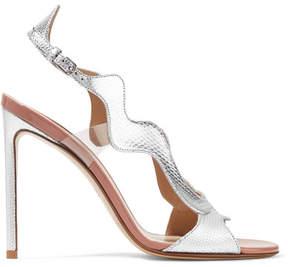 Francesco Russo Pvc-trimmed Metallic Karung Sandals - Silver
