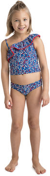 Vineyard Vines Girls One Shoulder Stars & Whales Tankini
