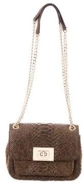 MICHAEL Michael Kors Embossed Leather Flap Bag