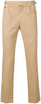 Entre Amis buckle detail trousers