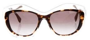 Fendi Two-Tone Geometric Sunglasses