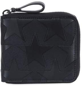 Valentino Camustars Leather & Canvas Zip Wallet