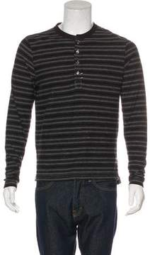 Billy Reid Striped Henley T-Shirt