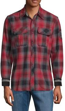 Affliction Men's Boardwalk Cotton Plaid Shirt