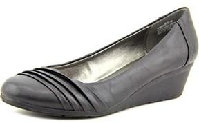 Andrew Geller Sharis Women Open Toe Synthetic Black Wedge Heel.