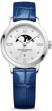 Baume & Mercier Classima Moon Phase Diamond Watch, 31mm