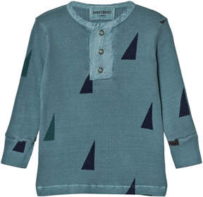 Bobo Choses Blue Sails Buttons Long Sleeve T-Shirt