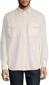 Jean Shop Men's Cotton Button-Down Shirt