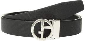Giorgio Armani Chevron/Smooth Reversible Belt Men's Belts