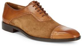 Matteo Massimo Men's Bal Cap Toe Leather Oxfords