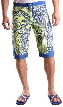 Roberto Cavalli Men's Blue/green Polyamide Trunks.