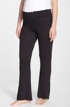 Belabumbum Women's Lace Trim Maternity Lounge Pants