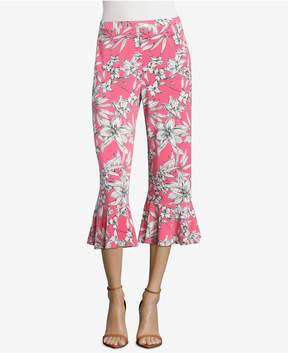 ECI Printed Ruffled Pants