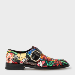 Paul Smith Women's Leather 'Alexa' Monk-Strap Shoes With 'Wild Garden' Print
