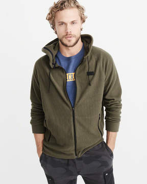 Abercrombie & Fitch Full-Zip Waffle Hoodie