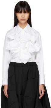 Comme des Garcons White Front Attachment Shirt