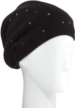 Portolano Star-Embroidered Cashmere Mushroom Hat