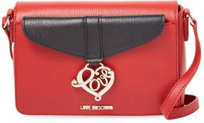 Love Moschino Women's Solid Leather Crossbody Bag