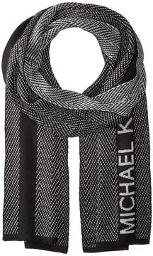 MICHAEL Michael Kors Zigzag Metallic Muffler Scarves