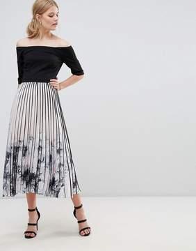 Coast Mirabeau Printed Pleat Midi Dress