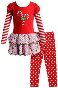 Youngland Girls 4-6X 2-pc. Candy Cane Dress & Legging Set