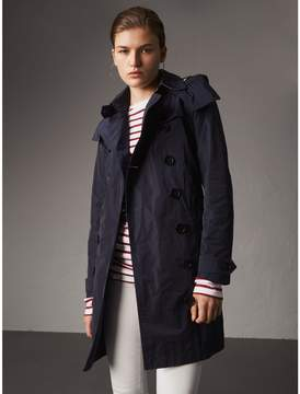 Burberry Taffeta Trench Coat with Detachable Hood